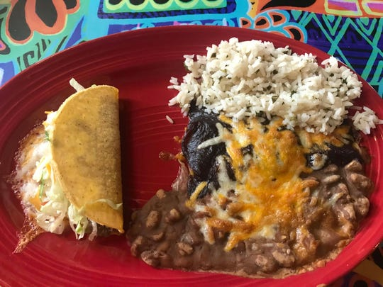 The lunch specials at Taco Cantina in Germantown come with rice, beans, and chips and salsa, all made in house.
