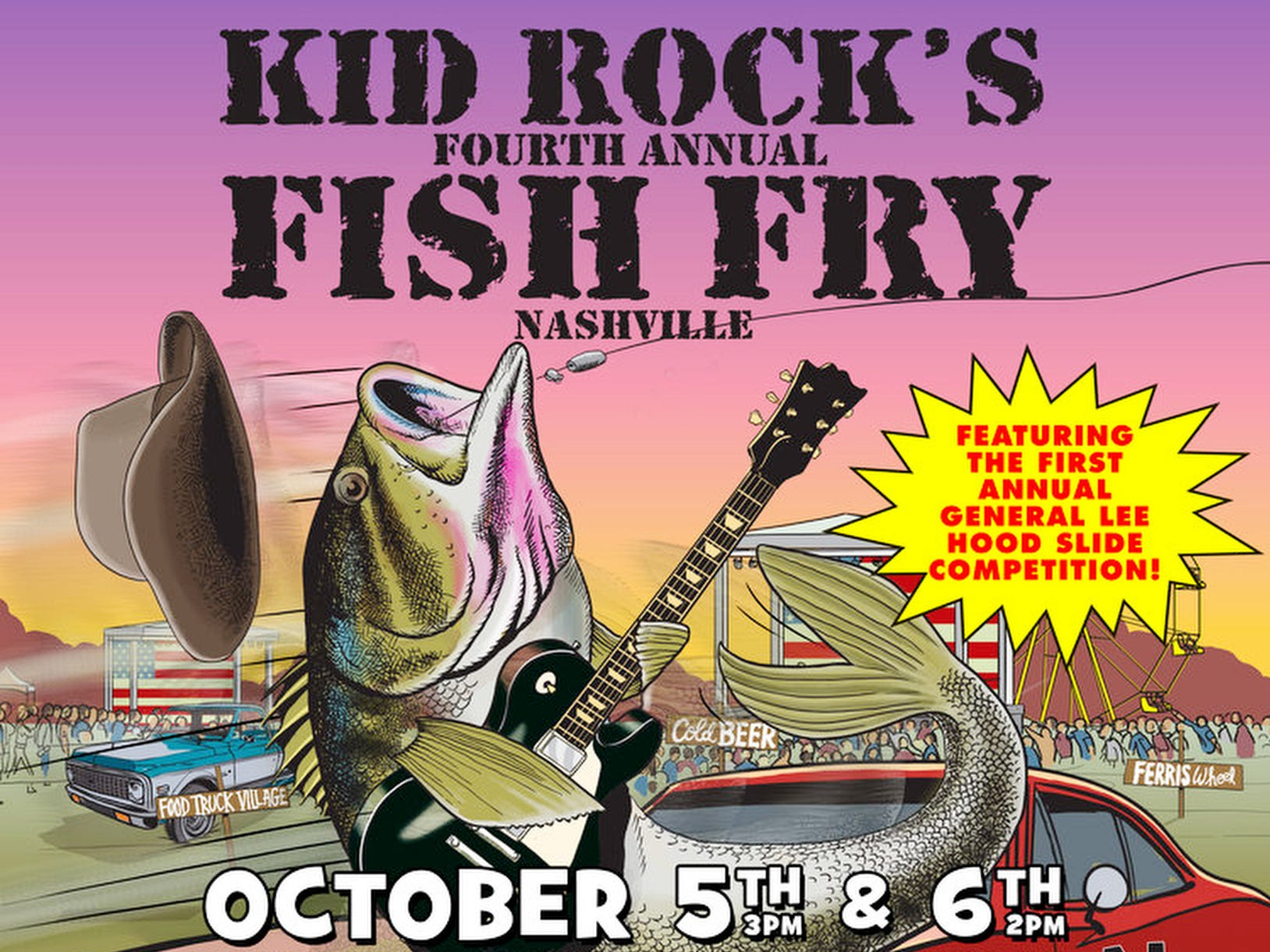 OCT. 5 KID ROCK'S FISH FRY: Through Oct. 6, Carl Black Chevy Woods Amphitheater at Fontanel, $52-$132