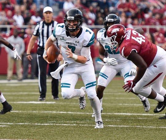 Former Naples High and junior Coastal Carolina quarterback Kilton Anderson has always been a dual-threat.