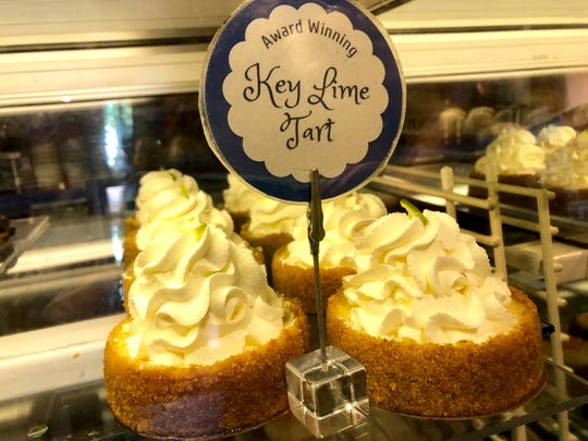 Key lime t arts in the front counter at Tony's Off Third in downtown Naples.