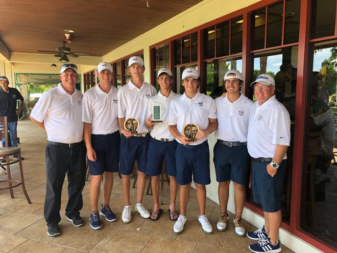 The Naples High School boys golf team won the St. John Neumann Invitational on Sept. 13, 2018. It's one of three tournaments the deep Eagles have won this year as they push forward to the postseason.
