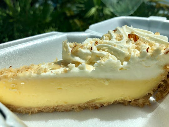 A slice of Key lime pie from Alice Sweetwater's Bar & Grill in Naples.