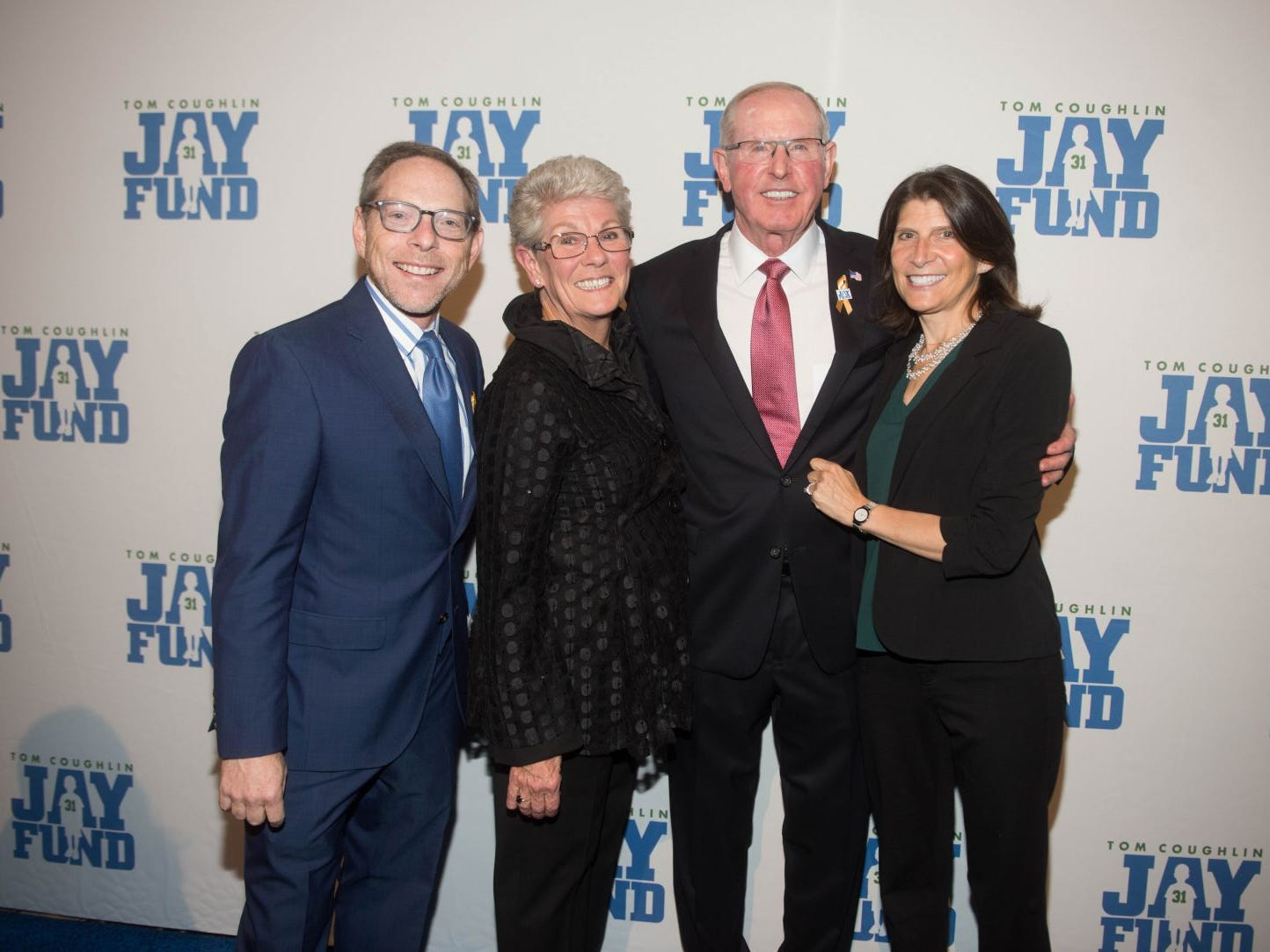 Sandy Montag, Judy Coughlin, Tom Coughlin and Nancy Montag. The 14th annual Jay Fund Champions for Children Gala was held at Cipriani 42nd Street. 09/21/2018