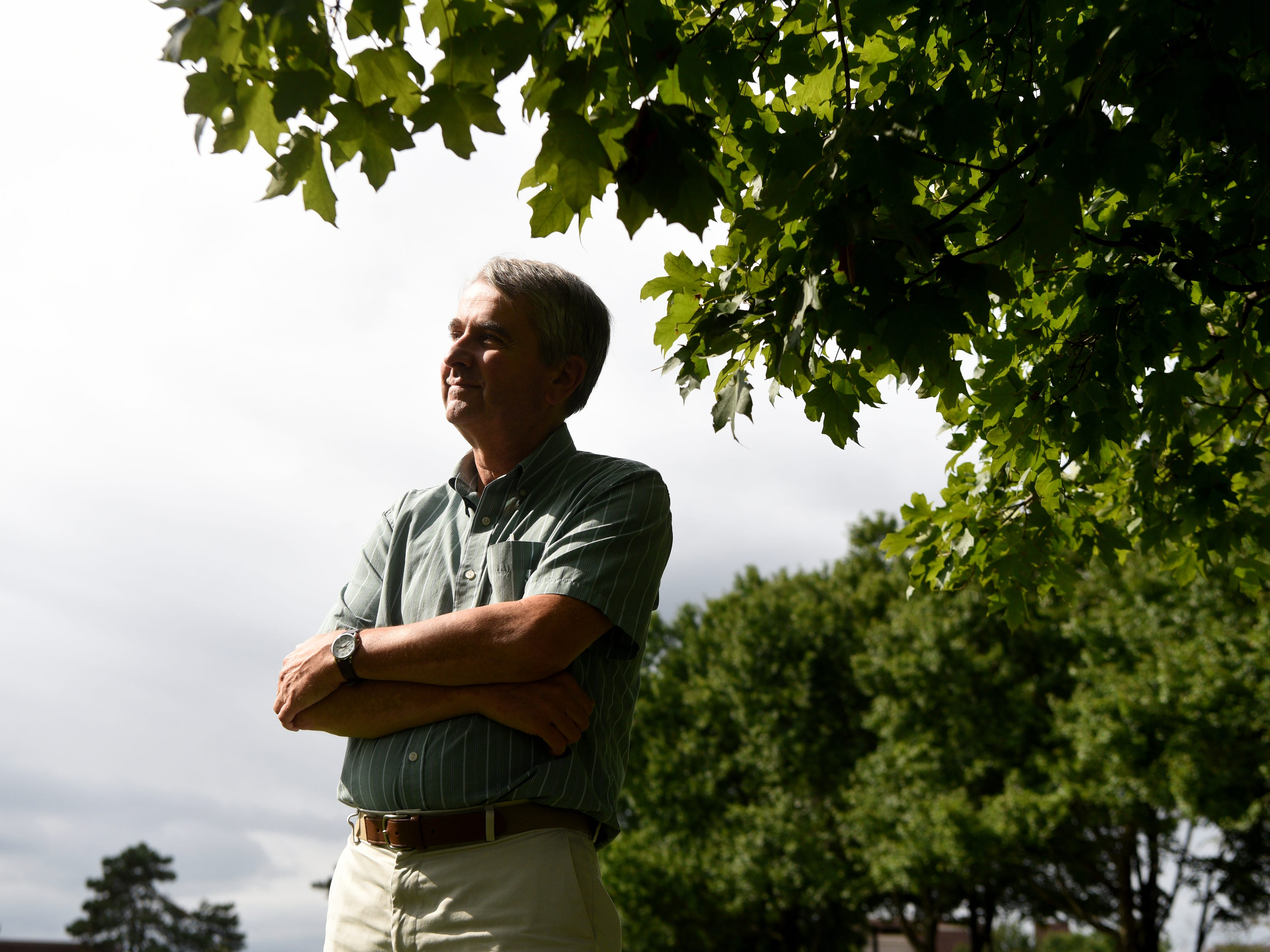 NJ state climatologist Dr. David Robinson has been a professor of geography at Rutgers University for thirty years. Robinson poses for a portrait on Thursday, September 20, 2018