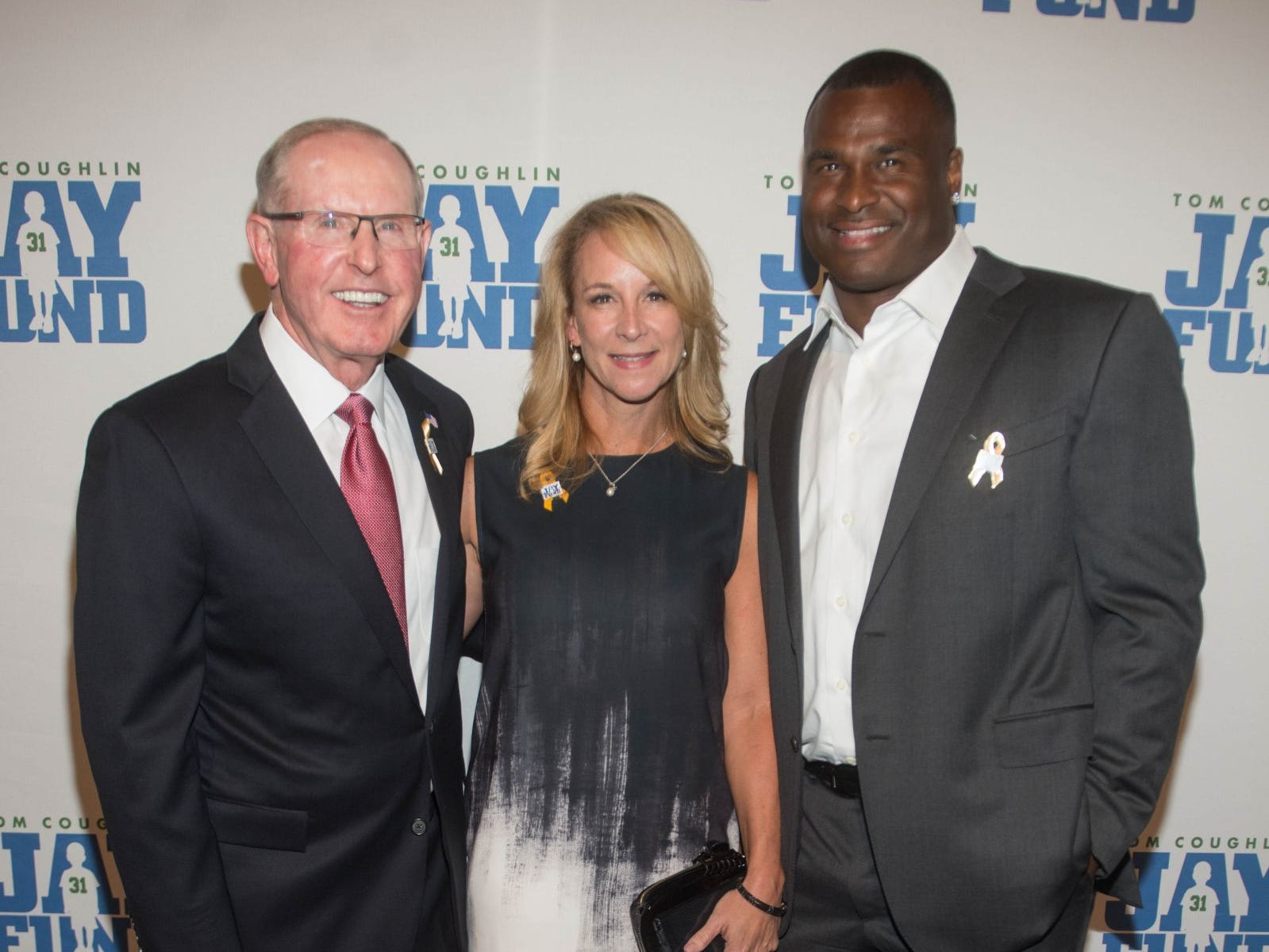 Tom Coughlin, Anita Marks and Jessie Armstead. The 14th annual Jay Fund Champions for Children Gala was held at Cipriani 42nd Street. 09/21/2018