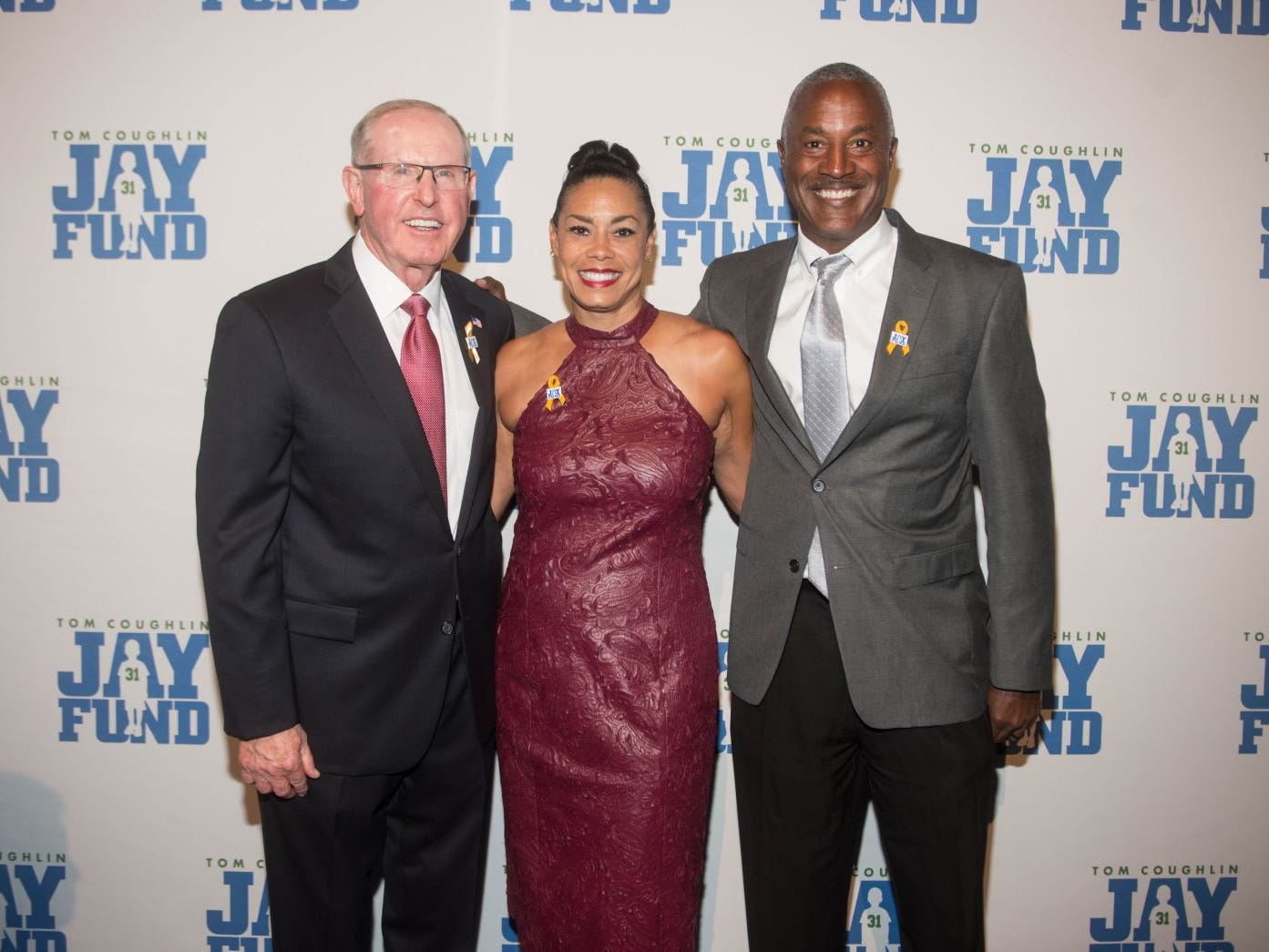 Tom Coughlin, Darlene Johnson and Craig Johnson. The 14th annual Jay Fund Champions for Children Gala was held at Cipriani 42nd Street. 09/21/2018
