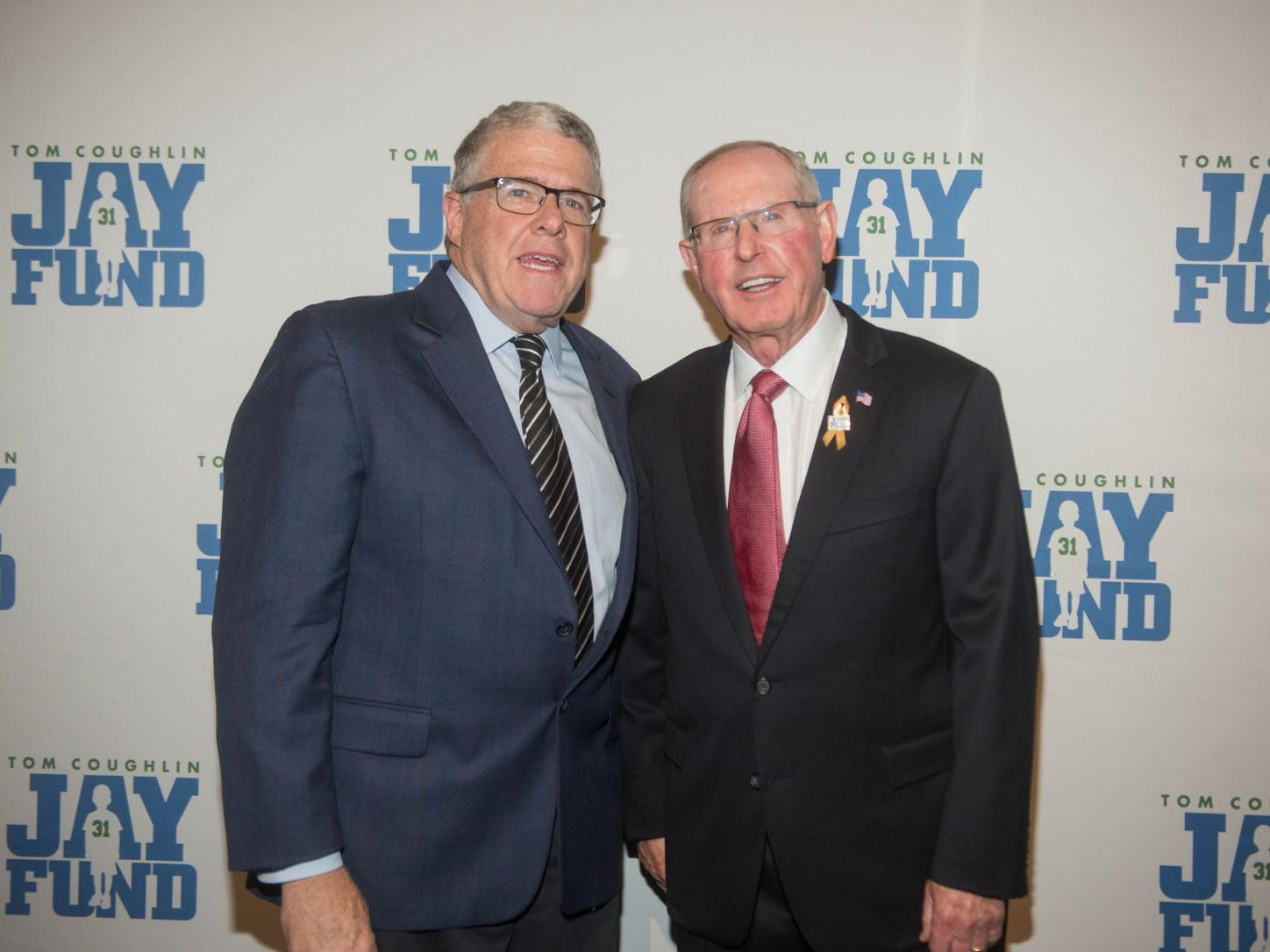Peter King and Tom Coughlin. The 14th annual Jay Fund Champions for Children Gala was held at Cipriani 42nd Street. 09/21/2018