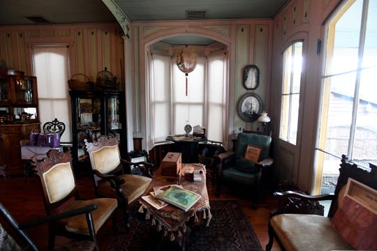 The living room in the Richardson History House, which can be seen on the 25th annual Mount Tabor house tour this Saturday, September 29, 2018.