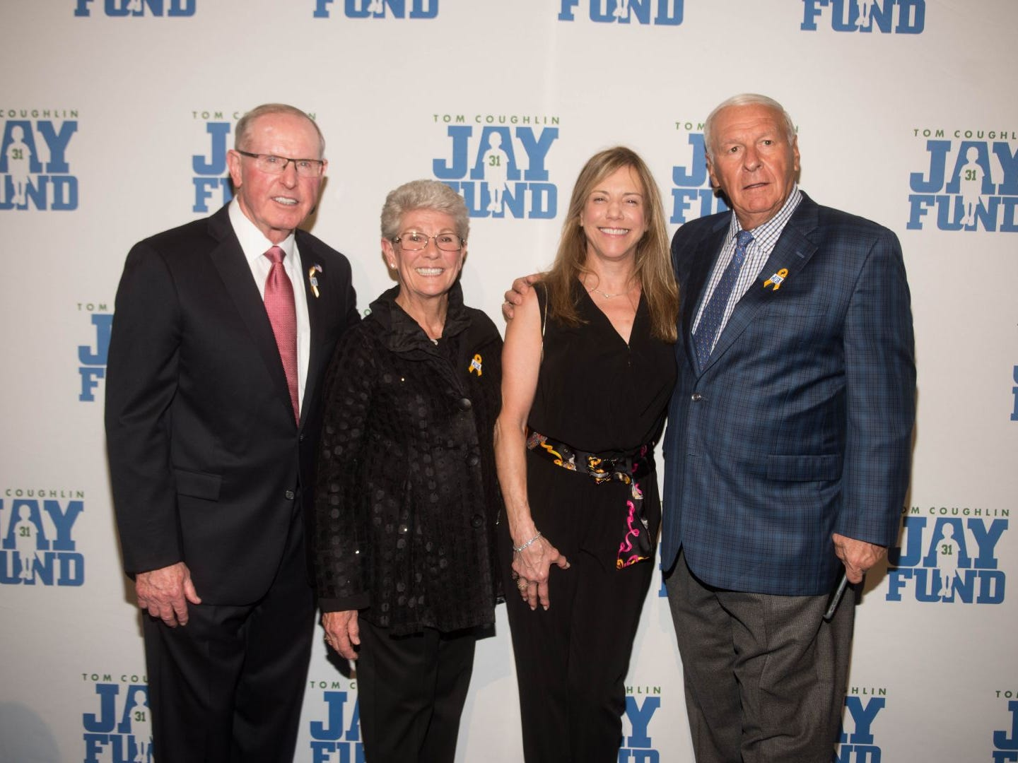 Tom Coughlin, Judy Coughlin, Jodi Mercein and Chuck Mercein. The 14th annual Jay Fund Champions for Children Gala was held at Cipriani 42nd Street. 09/21/2018