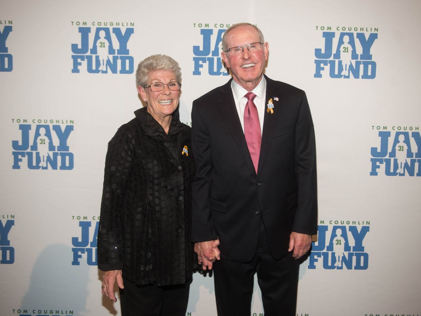 Judy Coughlin and Tom Coughlin. The 14th annual Jay Fund Champions for Children Gala was held at Cipriani 42nd Street. 09/21/2018