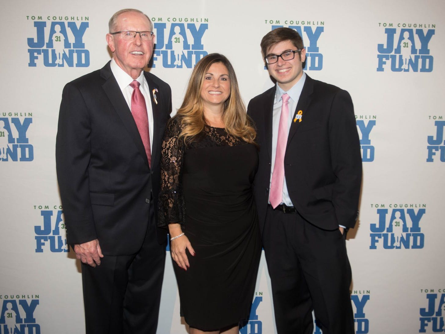 Tom Coughlin, Dawn and Daniel. The 14th annual Jay Fund Champions for Children Gala was held at Cipriani 42nd Street. 09/21/2018