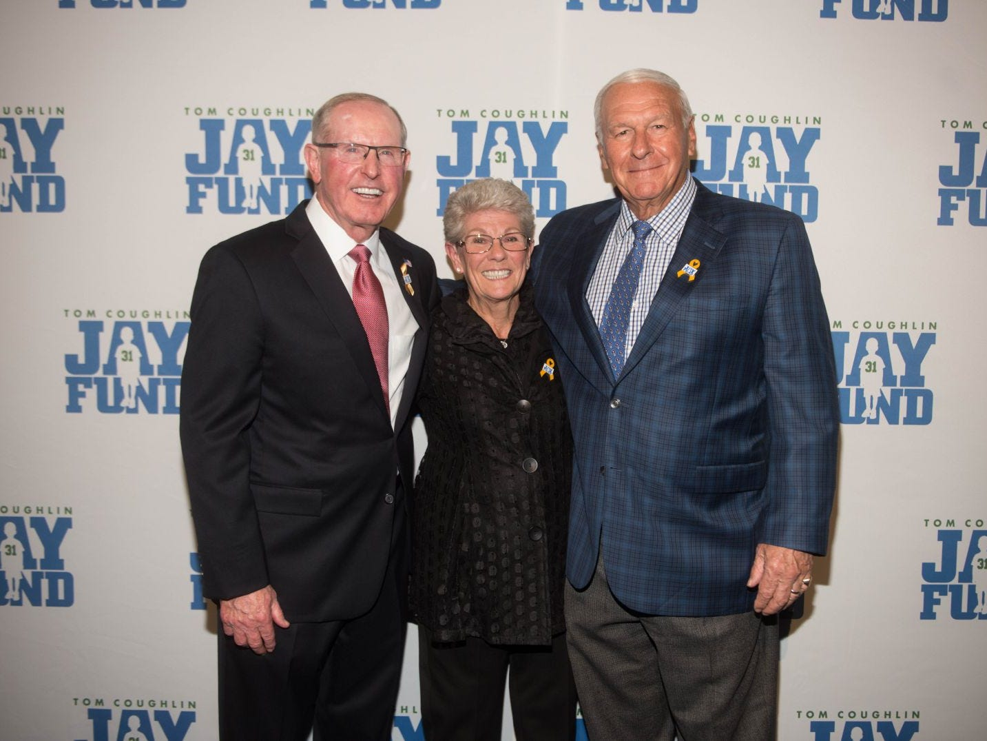 Tom Coughlin,  Judy Coughlin and Chuck Mercein. The 14th annual Jay Fund Champions for Children Gala was held at Cipriani 42nd Street. 09/21/2018