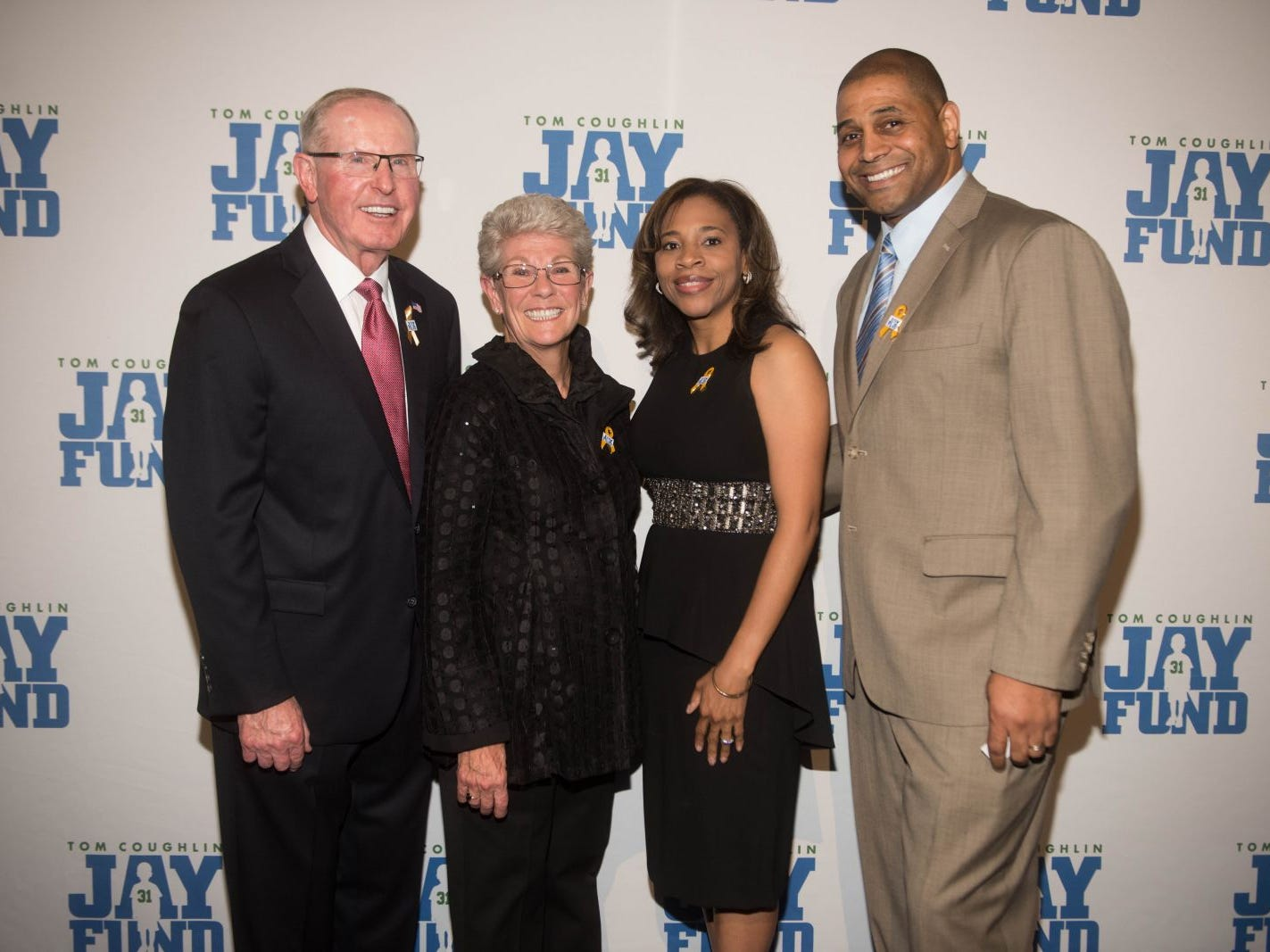 Tom Coughlin, Judy Coughlin, Tahesha Way and Charles Way. The 14th annual Jay Fund Champions for Children Gala was held at Cipriani 42nd Street. 09/21/2018