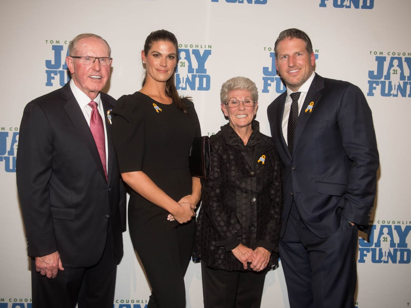 Tom Coughlin, Caroline Greisen, Judy Coughlin and Nick Greisen. The 14th annual Jay Fund Champions for Children Gala was held at Cipriani 42nd Street. 09/21/2018