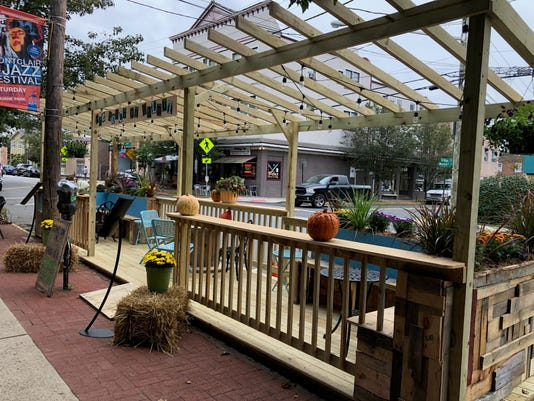 Porch parklet on Walnut St.