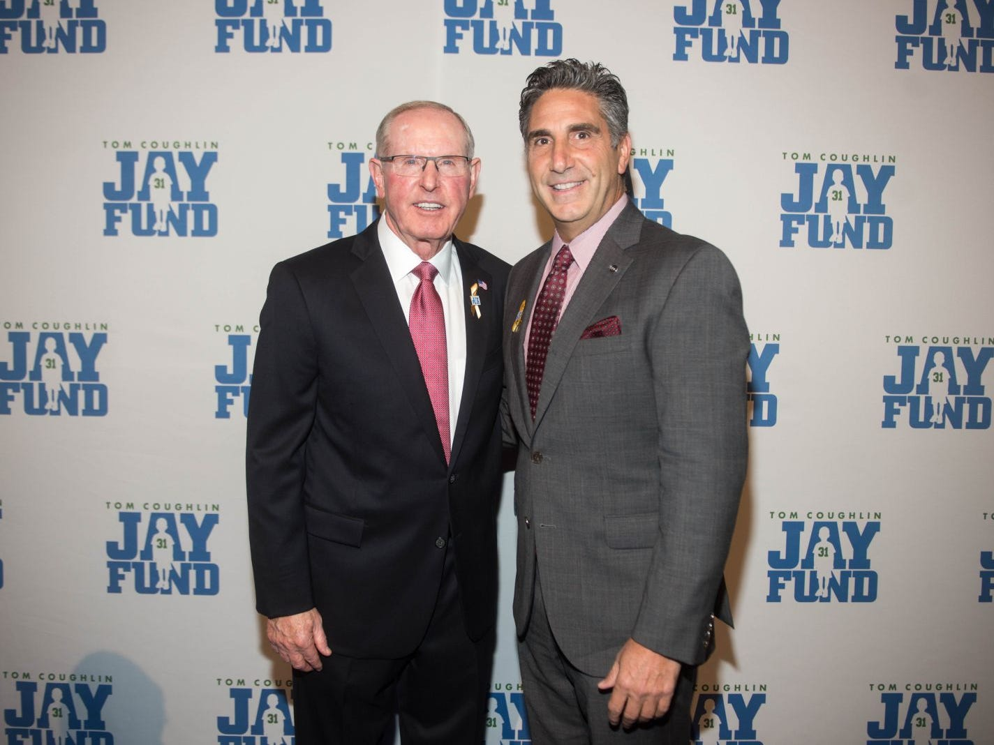 Tom Coughlin and Bob Papa. The 14th annual Jay Fund Champions for Children Gala was held at Cipriani 42nd Street. 09/21/2018