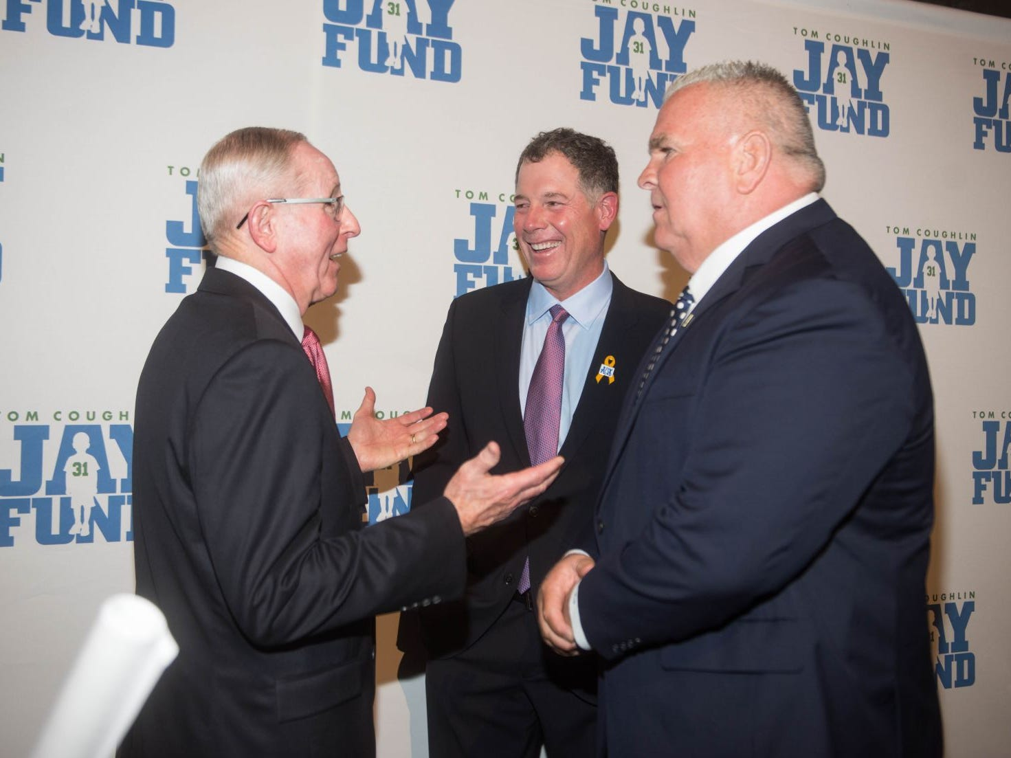 Tom Coughlin, Pat Shurmur and Mike Murphy. The 14th annual Jay Fund Champions for Children Gala was held at Cipriani 42nd Street. 09/21/2018