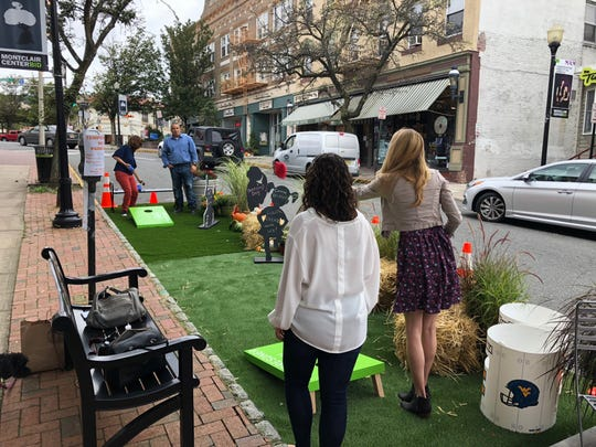 A pop up parklet was set up on Glenridge Avenue for the day on Friday, September 21, 2018.