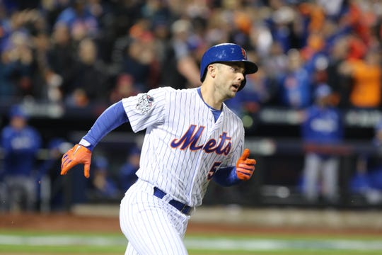 Oct. 30, 2015: David Wright hits a first inning two-run home run in Game 3 of World Series.