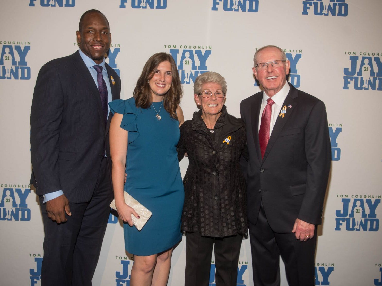 Kevin Boothe, Rosalie Boothe, Judy Coughlin and Tom Coughlin. The 14th annual Jay Fund Champions for Children Gala was held at Cipriani 42nd Street. 09/21/2018