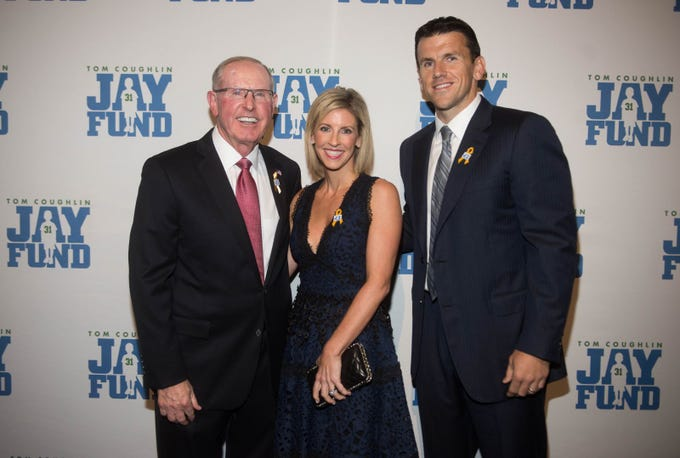 Tom Coughlin, Kate Snee and Chris Snee. The 14th annual Jay Fund Champions for Children Gala was held at Cipriani 42nd Street. 09/21/2018