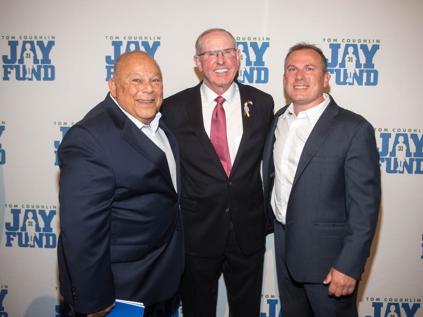 Arthur Sheren, Tom Coughlin and Jeff Sheren. The 14th annual Jay Fund Champions for Children Gala was held at Cipriani 42nd Street. 09/21/2018