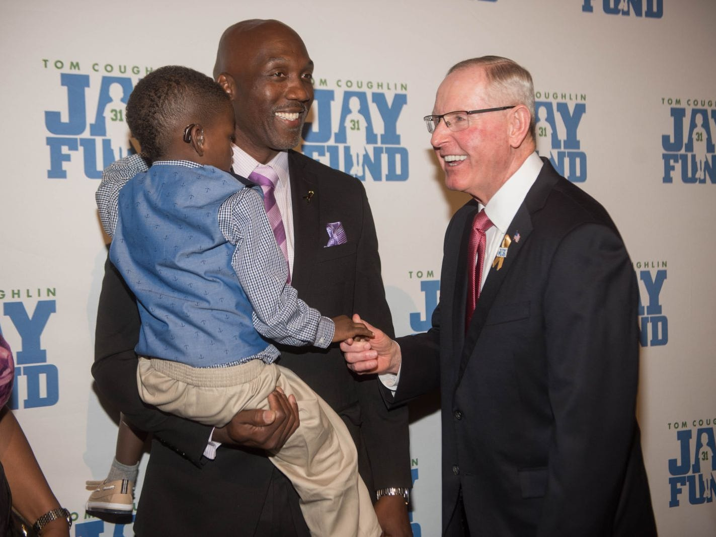 Cameron, Reggie Davis and Tom Coughlin. The 14th annual Jay Fund Champions for Children Gala was held at Cipriani 42nd Street. 09/21/2018