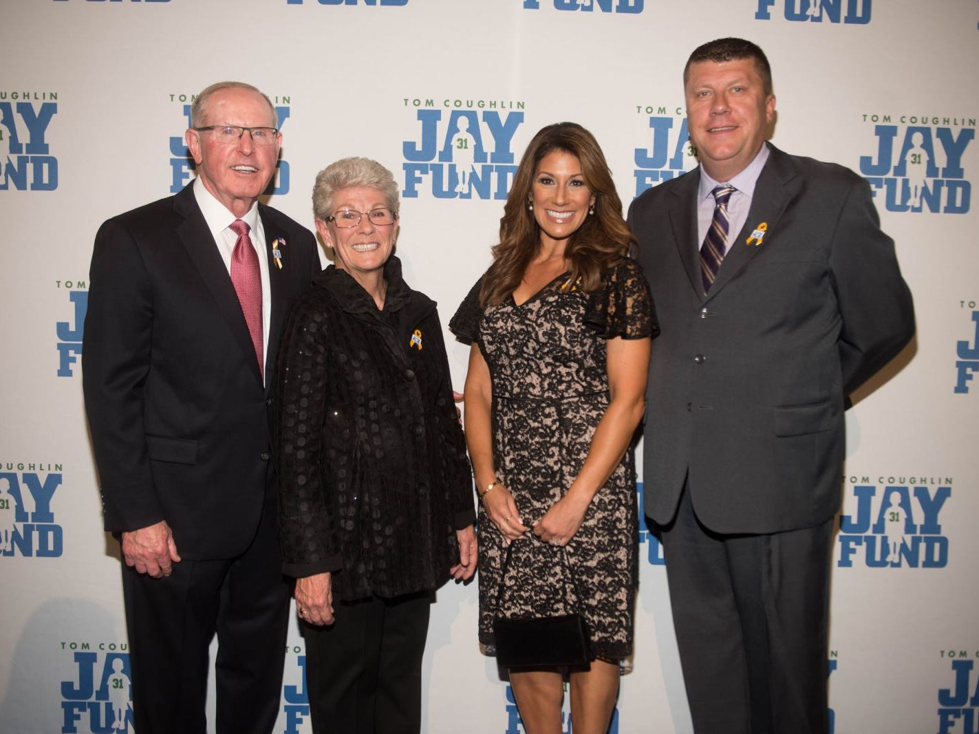 Tom Coughlin, Judy Coughlin, Tina Cervasio and Kevin McKearney. The 14th annual Jay Fund Champions for Children Gala was held at Cipriani 42nd Street. 09/21/2018