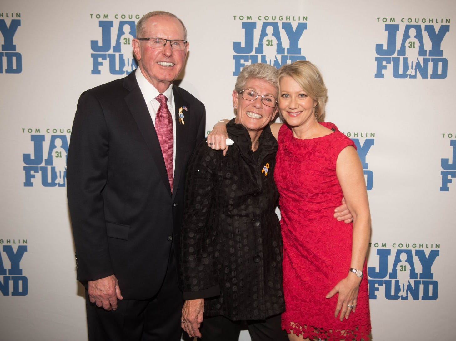 Tom Coughlin, Judy Coughlin and Andrea Kremer. The 14th annual Jay Fund Champions for Children Gala was held at Cipriani 42nd Street. 09/21/2018