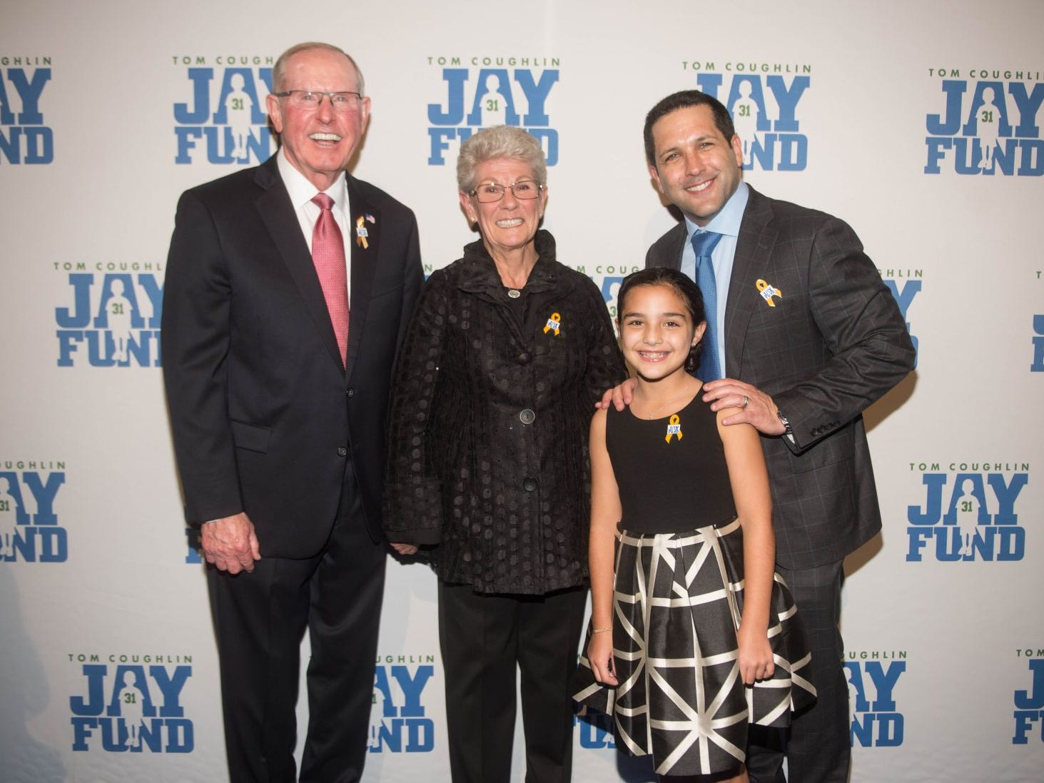 Tom Coughlin, Judy Coughlin, Dylan Schefter and Adam Schefter. The 14th annual Jay Fund Champions for Children Gala was held at Cipriani 42nd Street. 09/21/2018