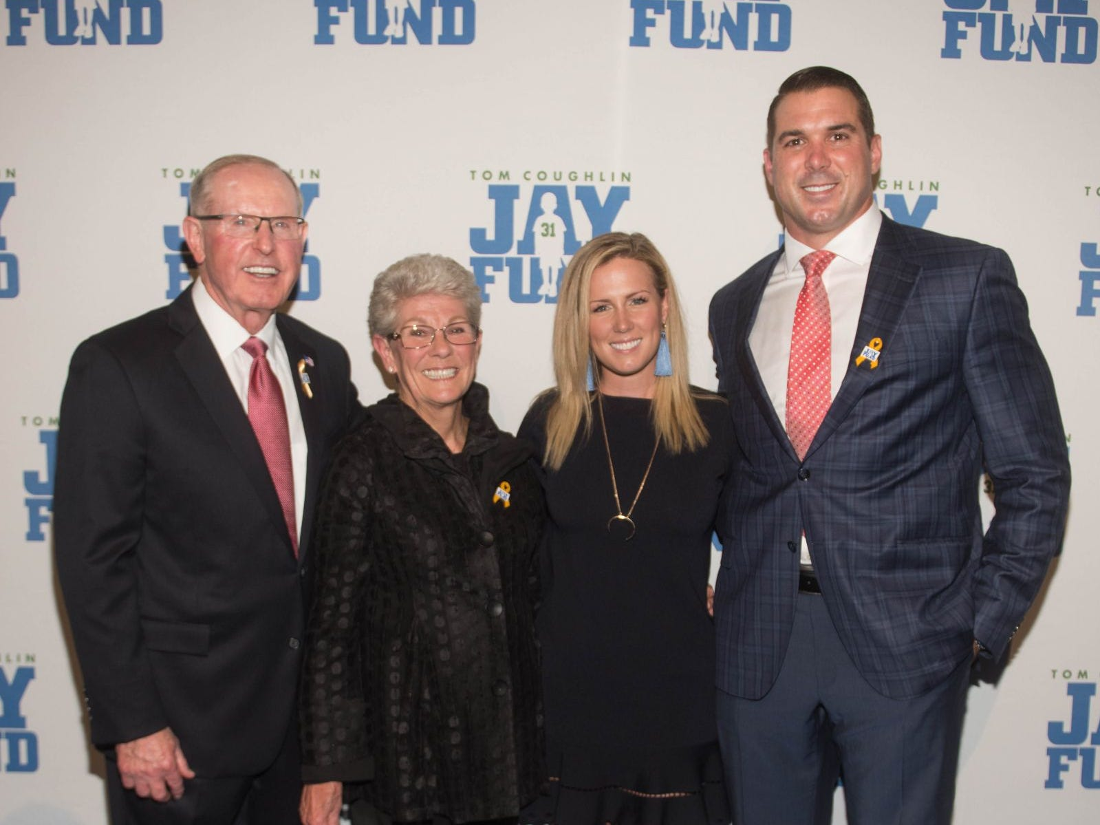 Tom Coughlin, Judy Coughlin, Kate Hammond and Zak DeOssie. The 14th annual Jay Fund Champions for Children Gala was held at Cipriani 42nd Street. 09/21/2018