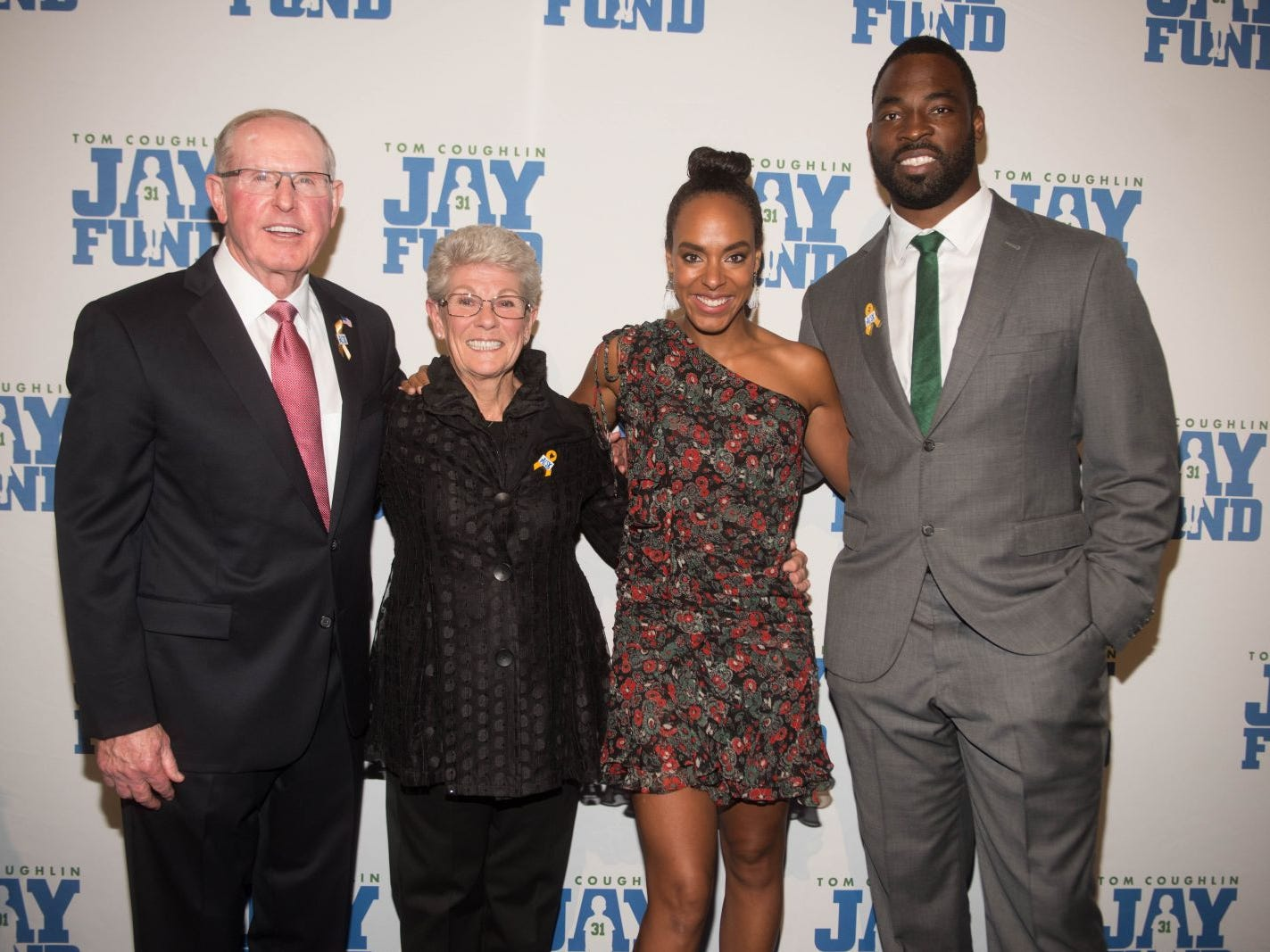 Judy Coughlin, Tom Coughlin, Lauran Williamson Tuck and Justin Tuck. The 14th annual Jay Fund Champions for Children Gala was held at Cipriani 42nd Street. 09/21/2018