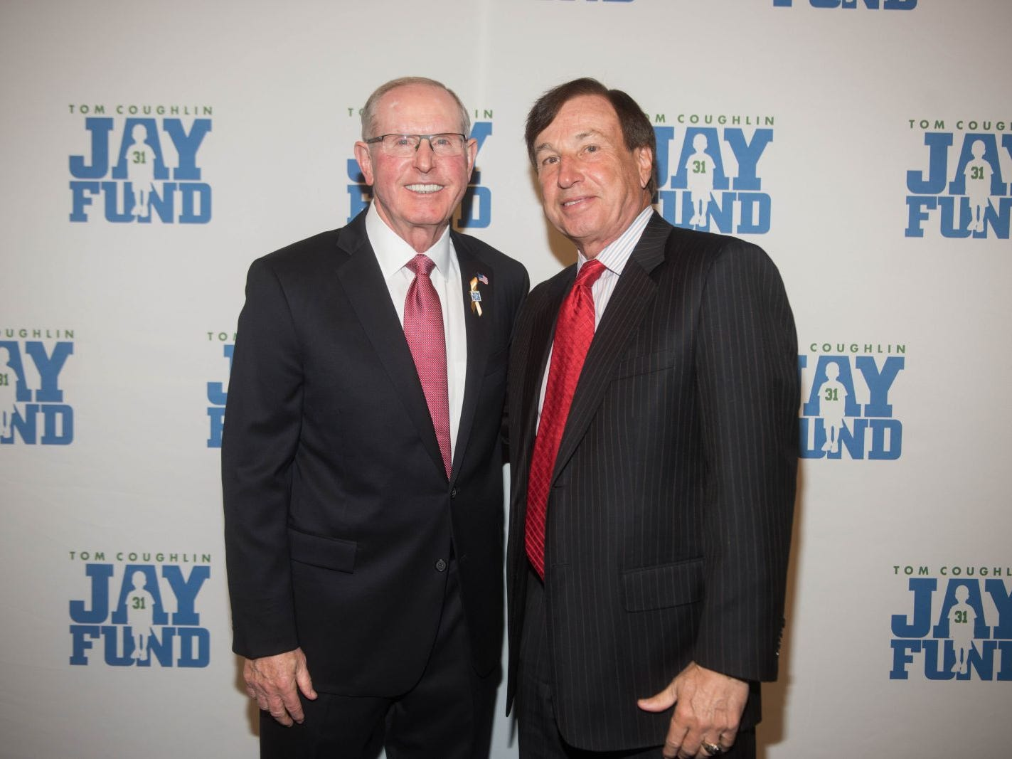 Tom Coughlin and Frank Fusaro. The 14th annual Jay Fund Champions for Children Gala was held at Cipriani 42nd Street. 09/21/2018