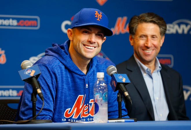 Sep 13, 2018: Mets third baseman David Wright (5) addresses the media about retiring from playing baseball during a press conference before a game against the Miami Marlins at Citi Field.