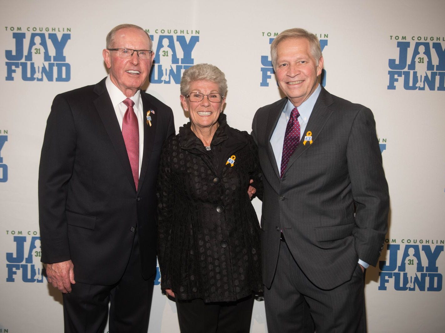 Tom Coughlin, Judy Coughlin and Chris Mortenson. The 14th annual Jay Fund Champions for Children Gala was held at Cipriani 42nd Street. 09/21/2018
