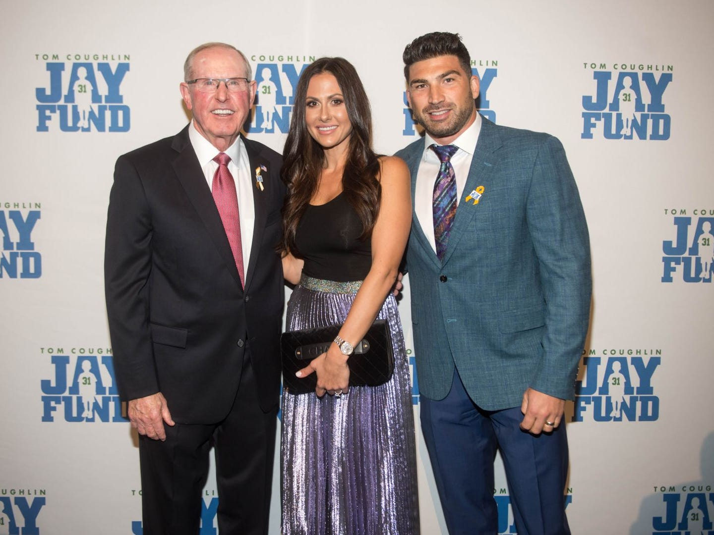 Tom Coughlin, Jaclyn Circiu and Vinny Circiu. The 14th annual Jay Fund Champions for Children Gala was held at Cipriani 42nd Street. 09/21/2018