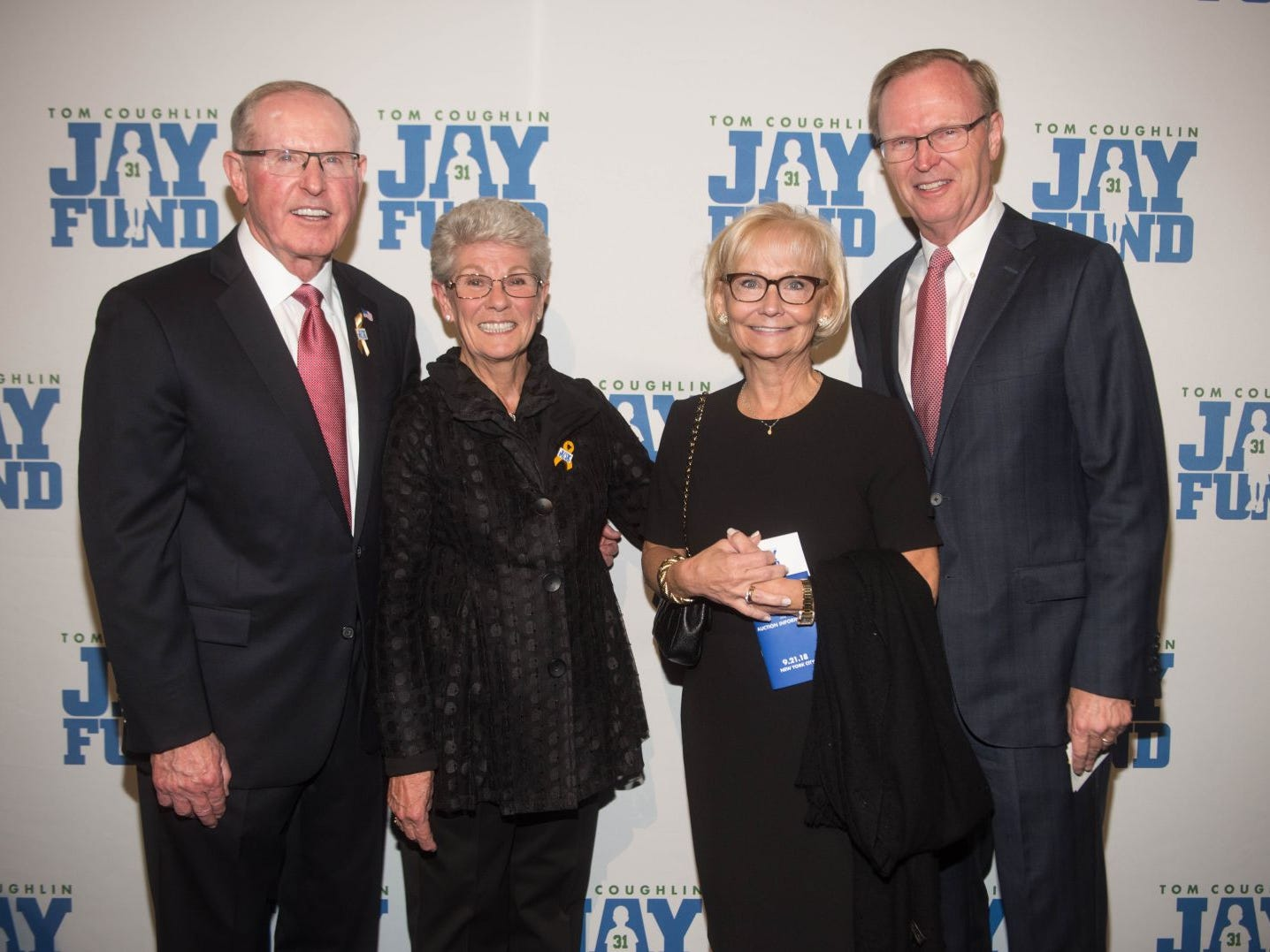 Tom Coughlin, Judy Coughlin, Denise Mara and John Mara. The 14th annual Jay Fund Champions for Children Gala was held at Cipriani 42nd Street. 09/21/2018