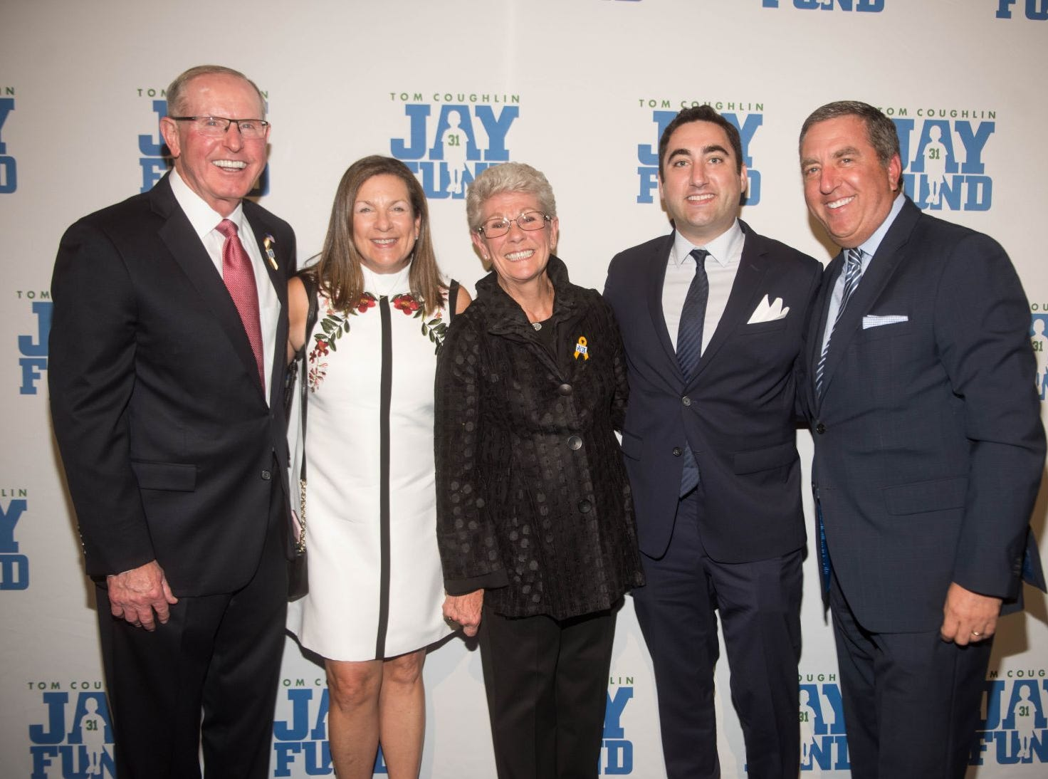 Tom Coughlin, Besie Swartz, Judy Coughlin and John Miller. The 14th annual Jay Fund Champions for Children Gala was held at Cipriani 42nd Street. 09/21/2018