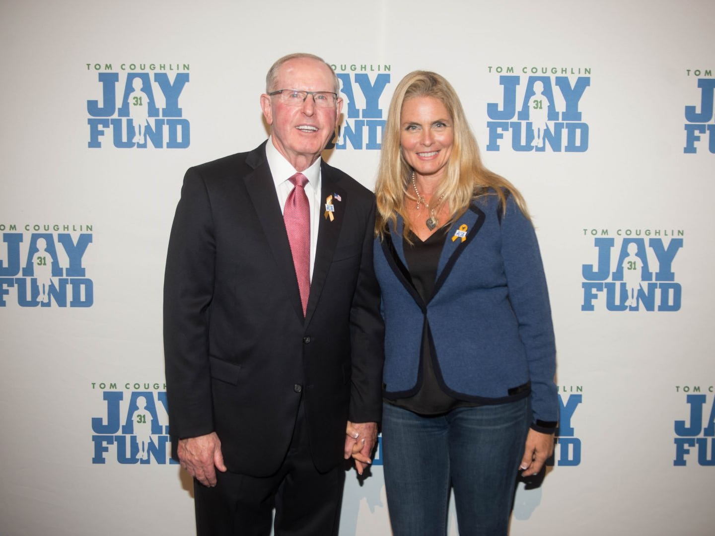 Tom Coughlin and Kim Alexis. The 14th annual Jay Fund Champions for Children Gala was held at Cipriani 42nd Street. 09/21/2018