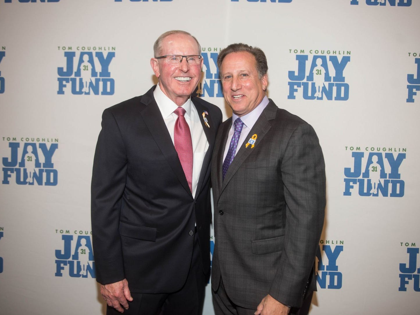 Tom Coughlin and Bruce Beck. The 14th annual Jay Fund Champions for Children Gala was held at Cipriani 42nd Street. 09/21/2018