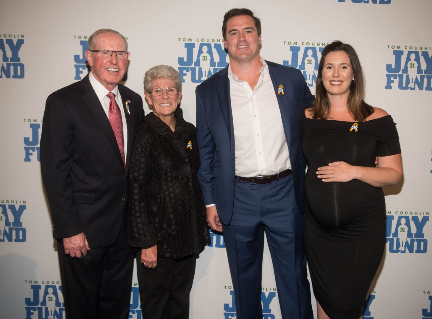 Tom Coughlin, Judy Coughlin, Tim Bulman and Carrie Bulman. The 14th annual Jay Fund Champions for Children Gala was held at Cipriani 42nd Street. 09/21/2018