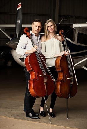 The dynamic cello duo Cellisimo, comprised of Ruslan Biryukov and Anne Suda, will perform at the Rio Grande Theatre on Tuesday, Oct. 2