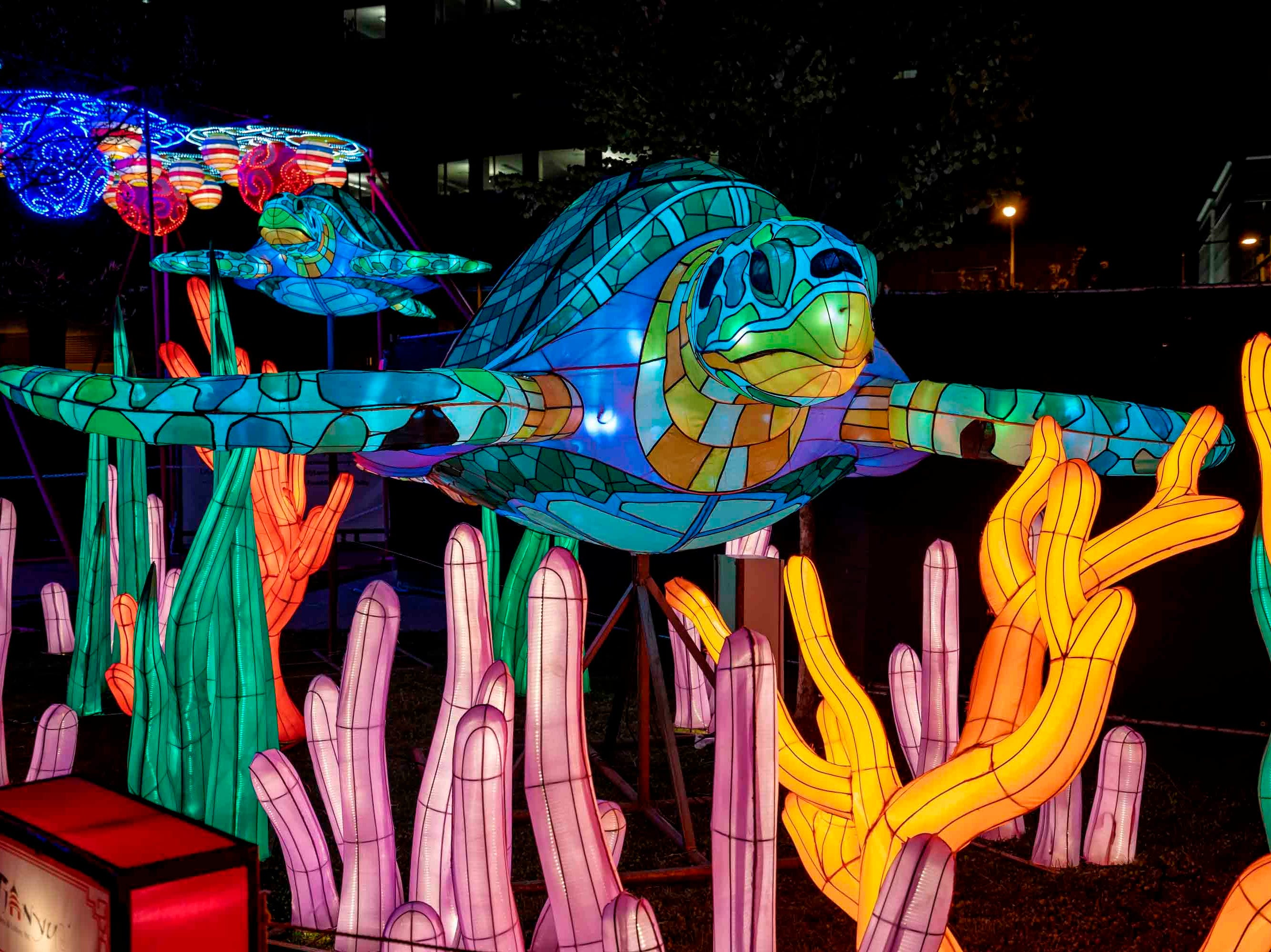 Twenty-five oversized Chinese-themed lanterns will be on display at EXPO New Mexico as part of Dragon Lights Albuquerque.