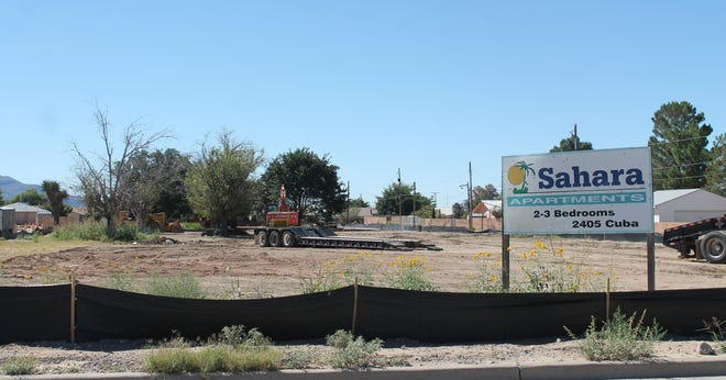What was once the site of an abandoned apartment complex is now a sunny, empty lot after demolition of the Sahara Apartment buildings finished week.
