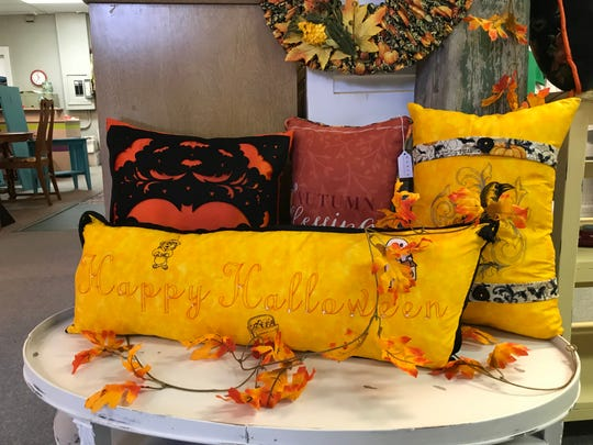 Mary said she likes to design special pillows and other items for each of the holidays.