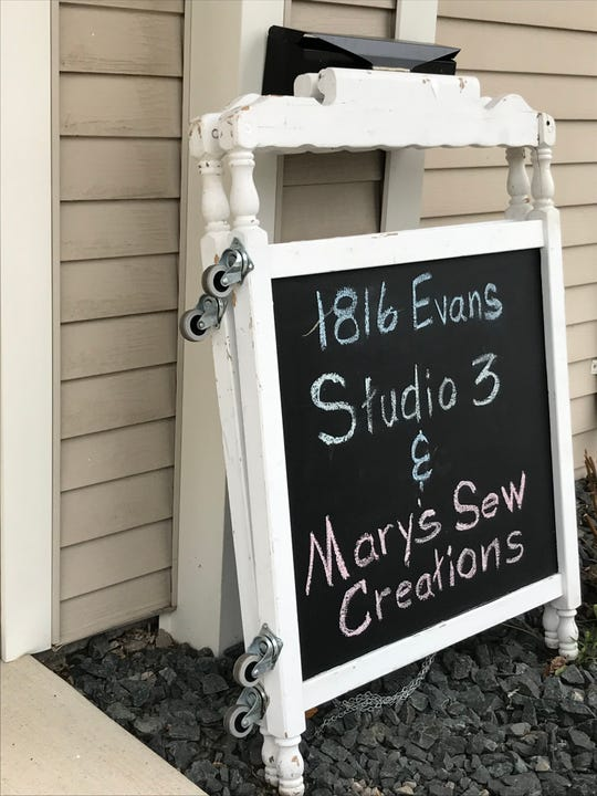Studio 3 owner Roger Shaw informed Mary Schuessler about an opening in the building. She then decided to move in and start her new store Marys Sew Creations.
