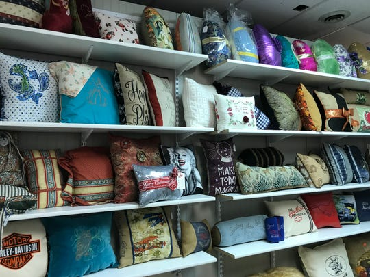 When Mary and her sister first began their pillow-making business, she said they made over 500 pillows.