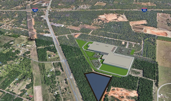 A look at the completed Project Runner, a plan for a southeast-based wholesale food distribution company to expand with 400 jobs at the Northwest Florida Industrial Park at I-10 in Milton.