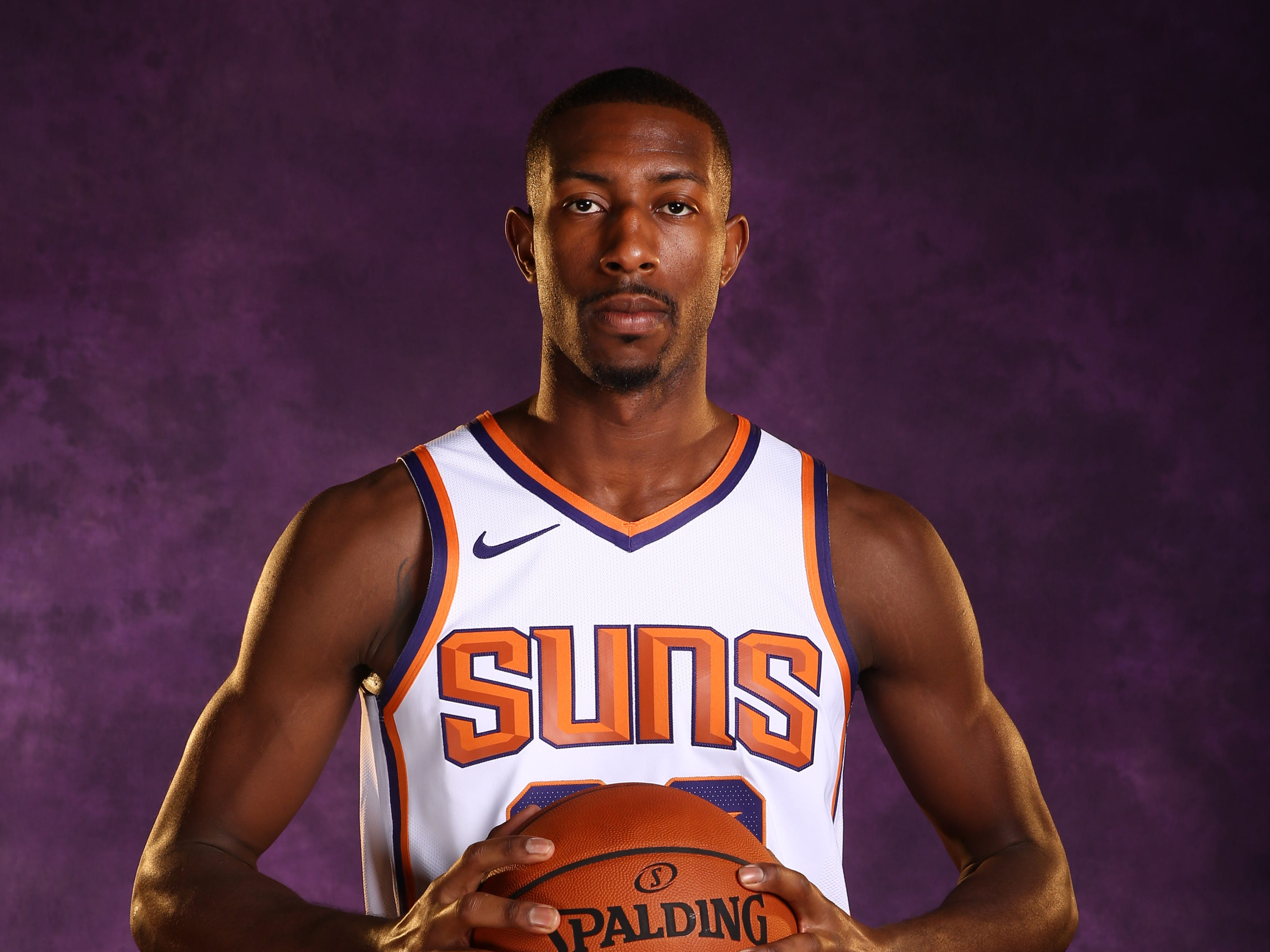 Phoenix Suns guard Davon Reed during media day at Talking Stick Resort Arena on Sep. 24, 2018, in Phoenix, Ariz.