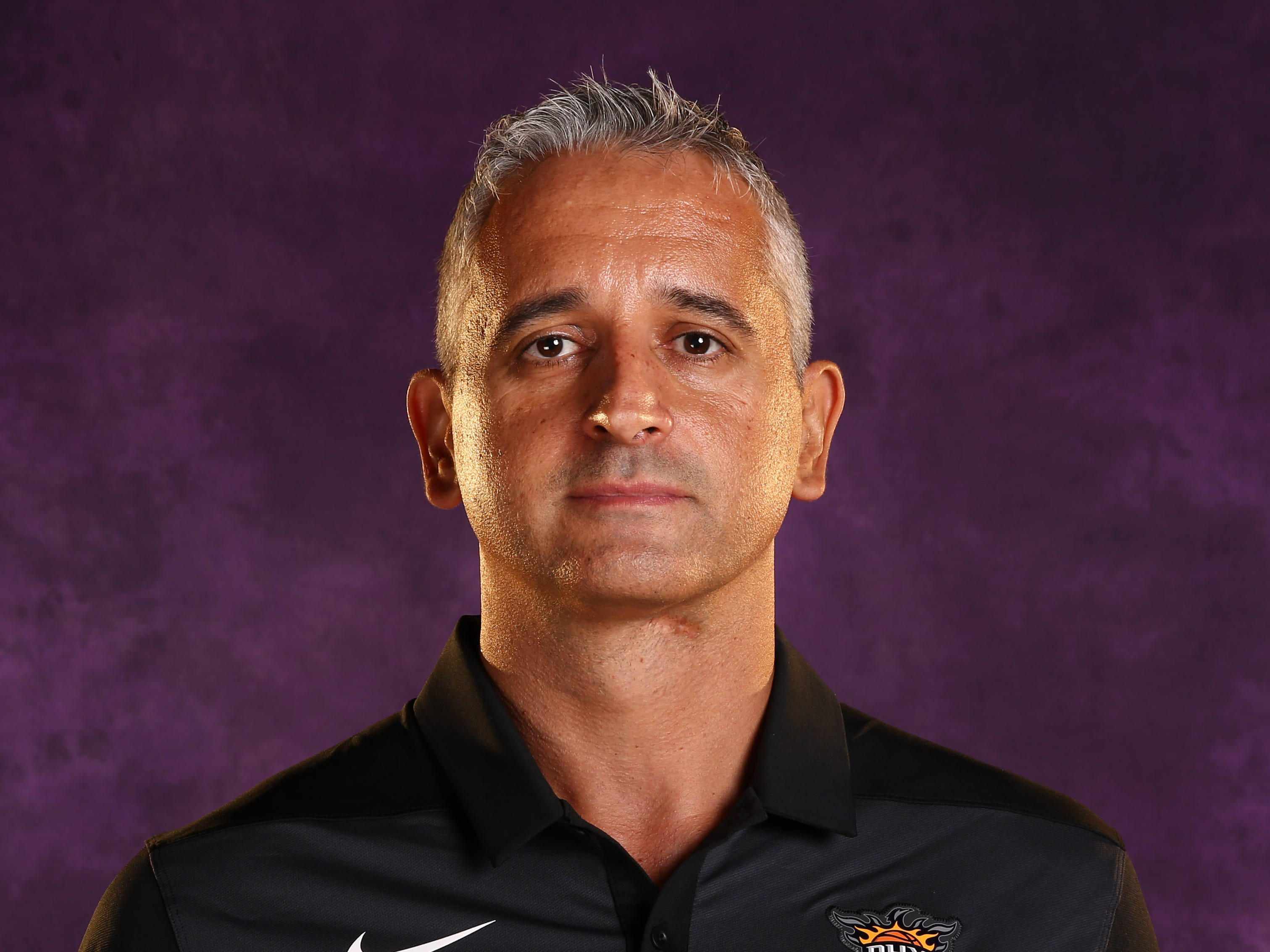 Phoenix Suns head coach Igor Kokoskov during media day at Talking Stick Resort Arena on Aug. 21, 2018, in Phoenix, Ariz.
